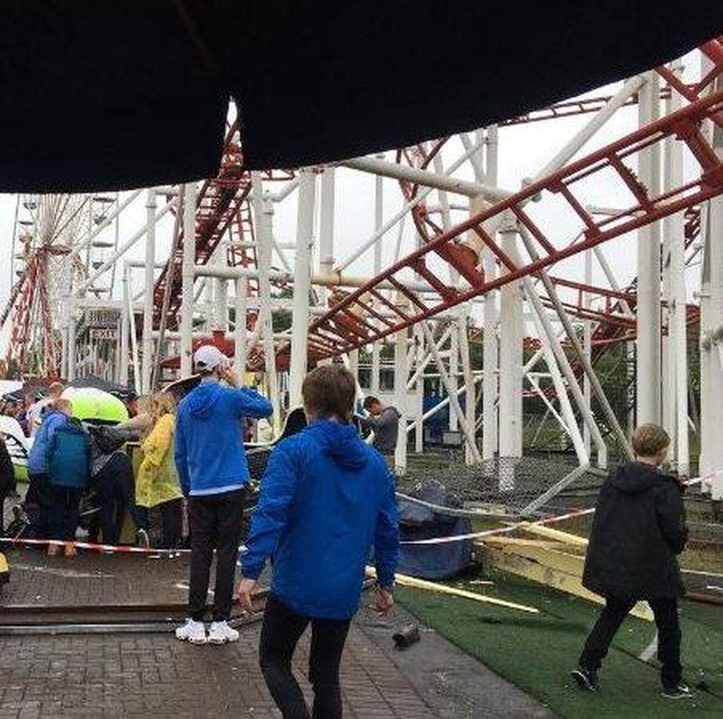 Roller Coaster di Taman Bermain Skotlandia Terbalik, 9 Anak Terluka