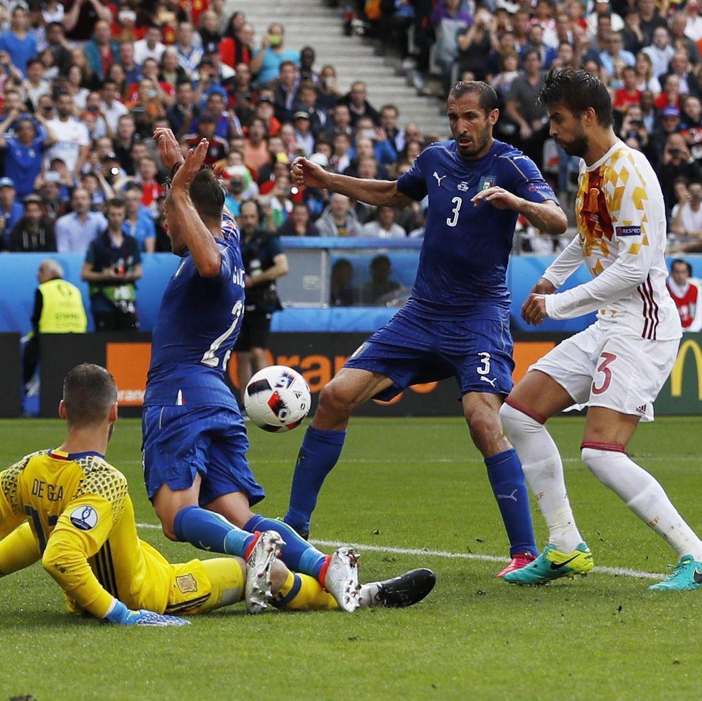 Kalahkan Spanyol, Italia Tantang Jerman di Perempatfinal