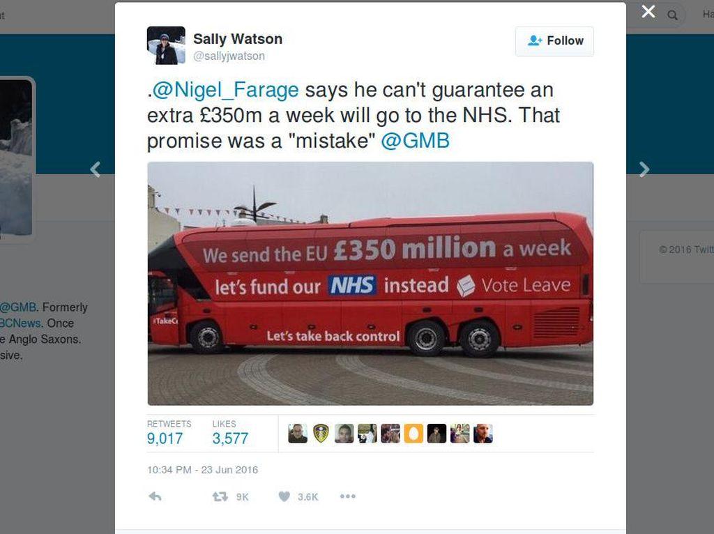 Saat Warga Inggris Kesal Tertipu Iklan Kampanye Brexit 350 Juta Pounds