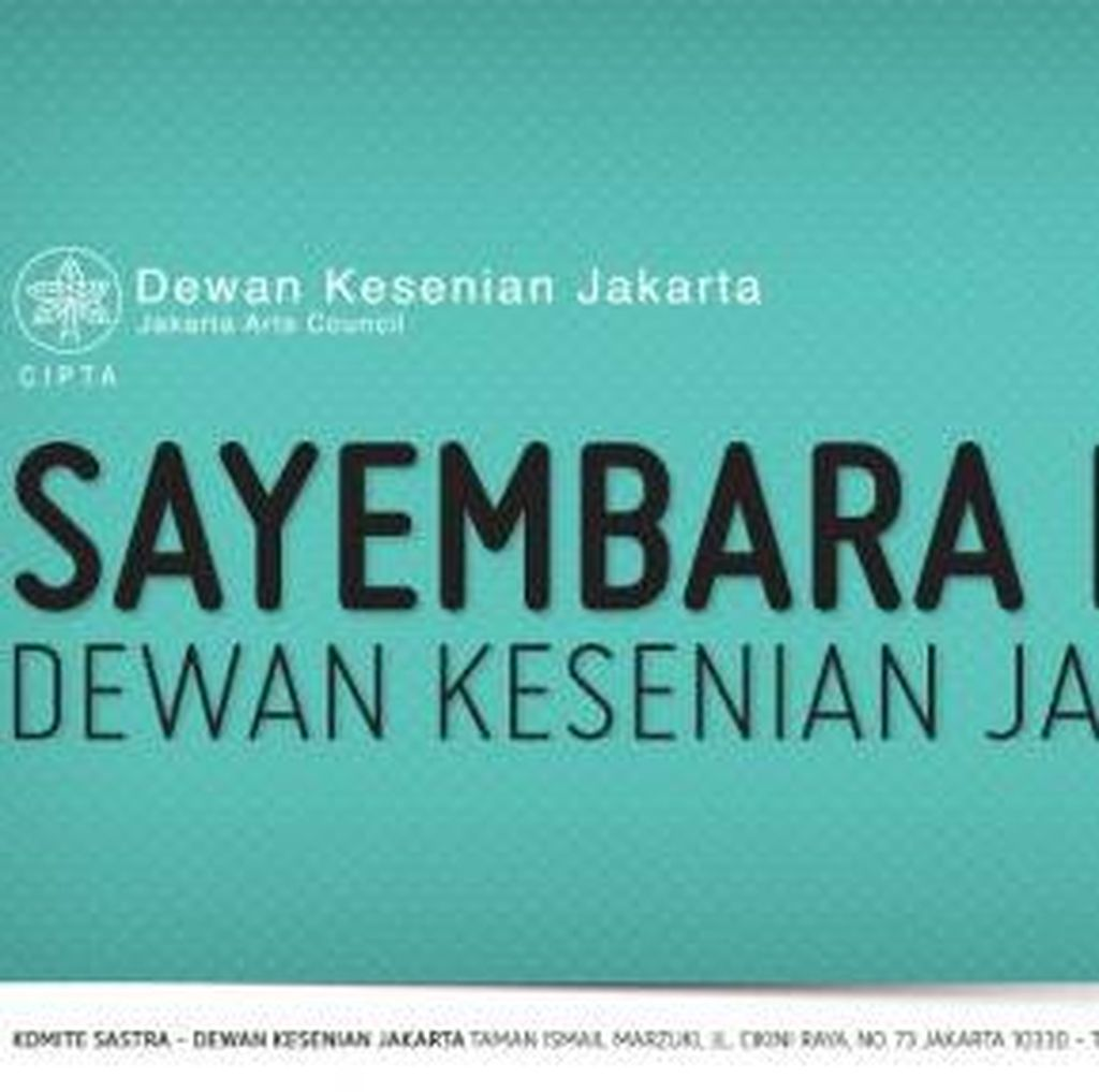 Dewan Kesenian Jakarta Buka Kompetisi Sayembara Novel 2016