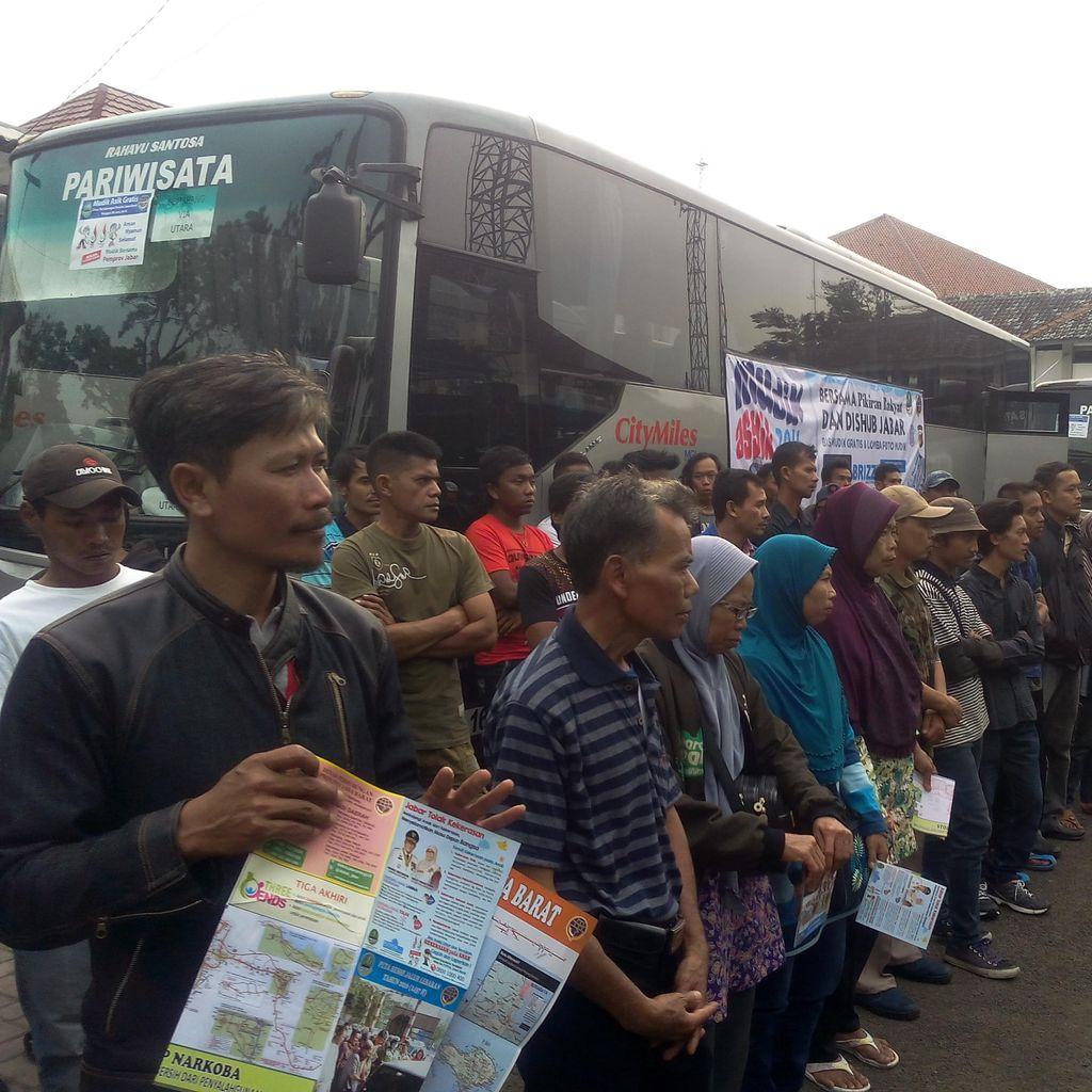 Seribu Penumpang Mudik Gratis dari Bandung Serbu Jateng dan Jatim