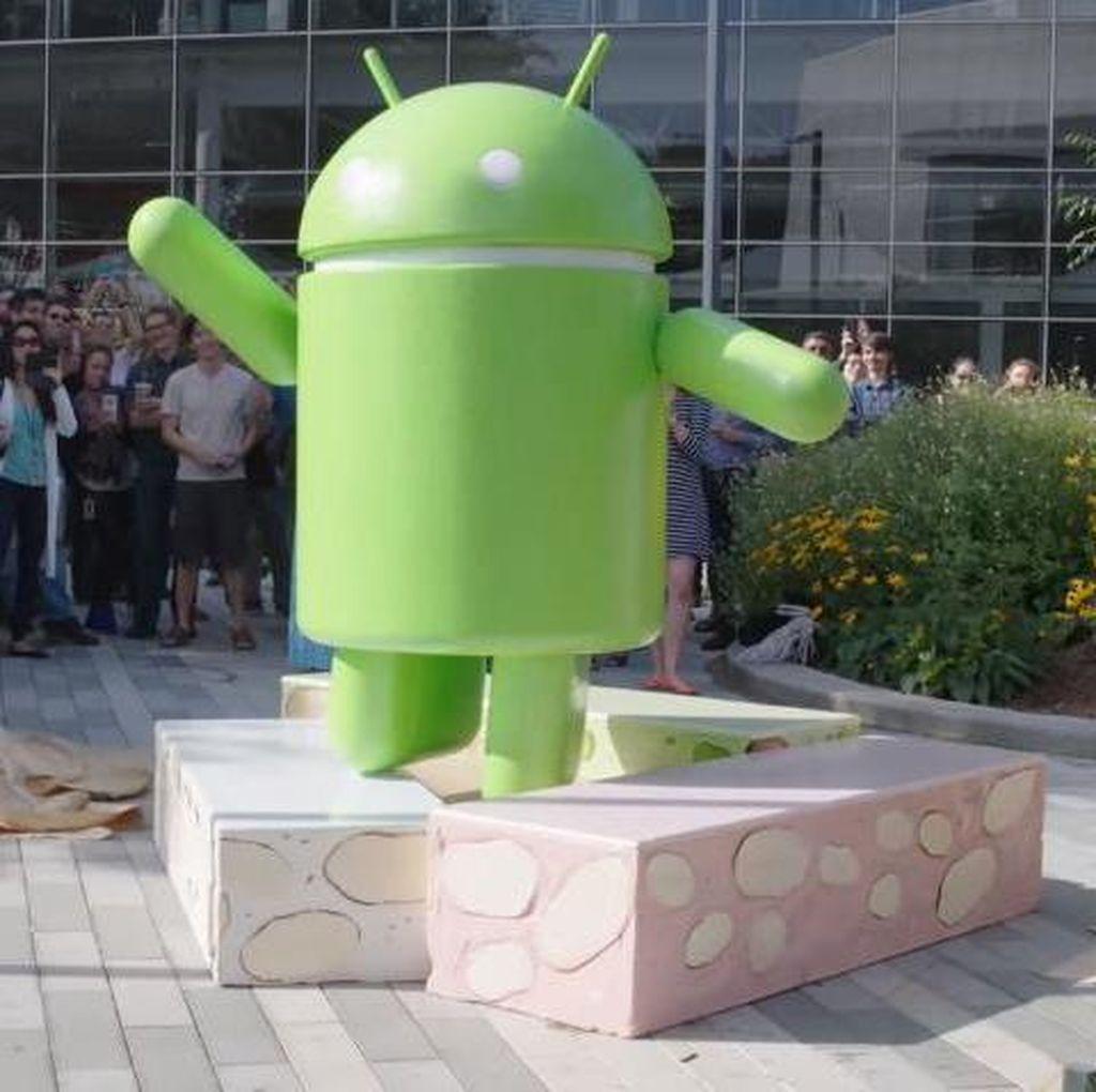 Google Pajang Patung Android 7.0 Nougat