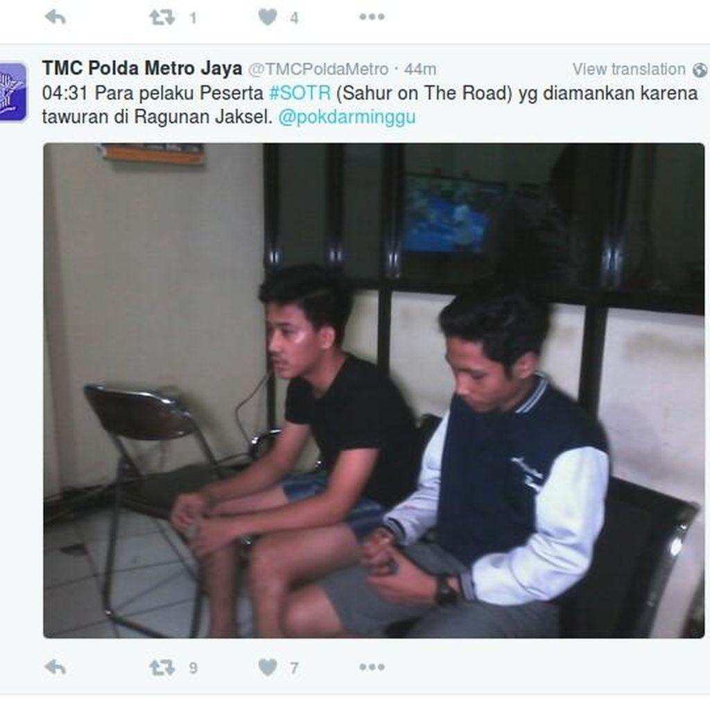 Peserta SOTR dan Warga Tawuran di Ragunan, Beberapa Pelaku Diringkus Polisi