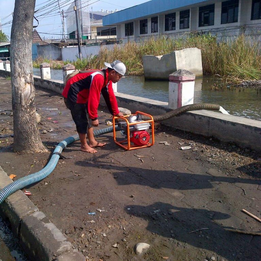 Cerita Para Penjaga Pompa Rob Semarang, 4 Jam Bertemu Keluarga Saat Lebaran