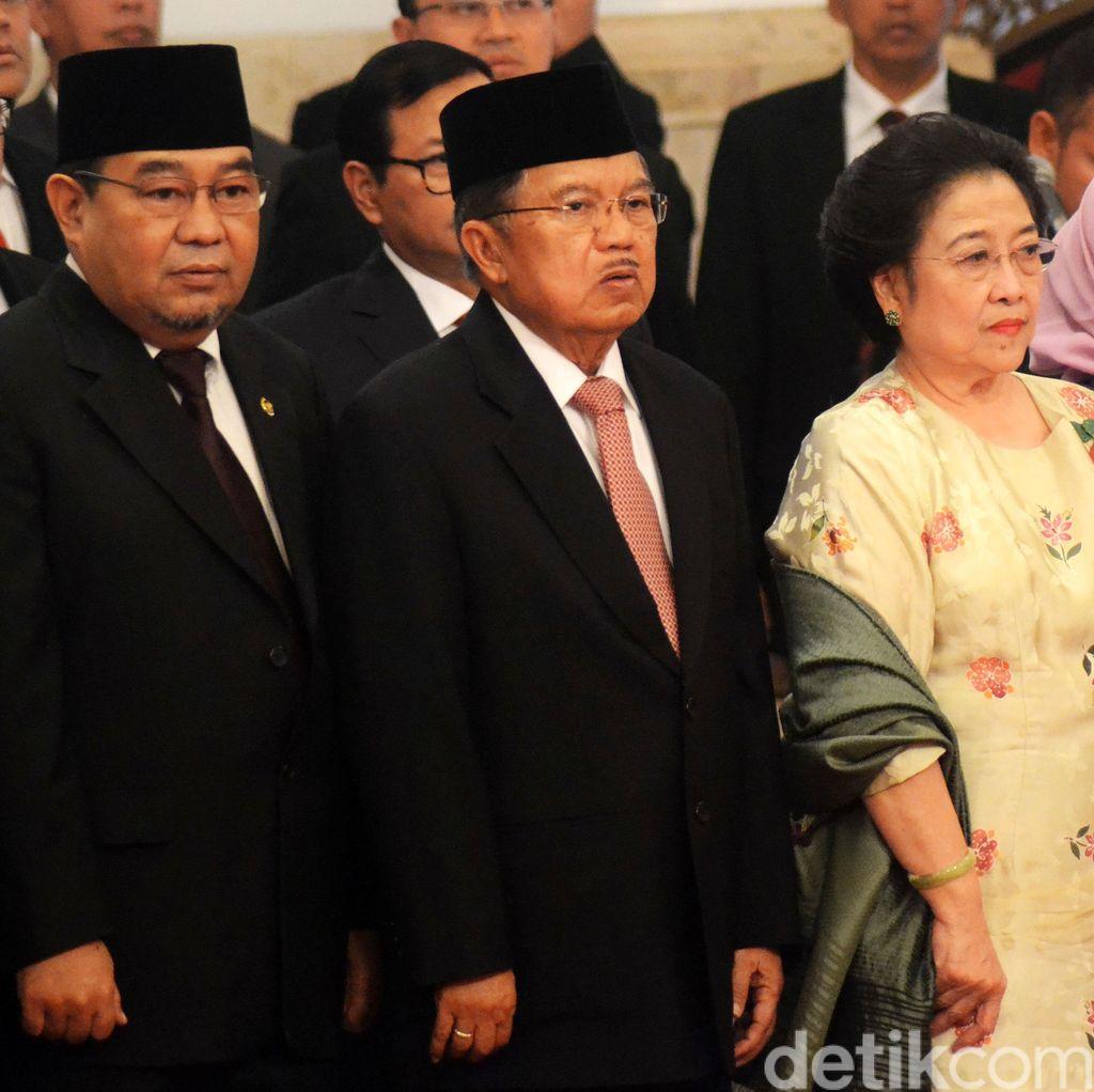 Megawati Tak Hadiri Pelantikan Menteri Baru Jokowi
