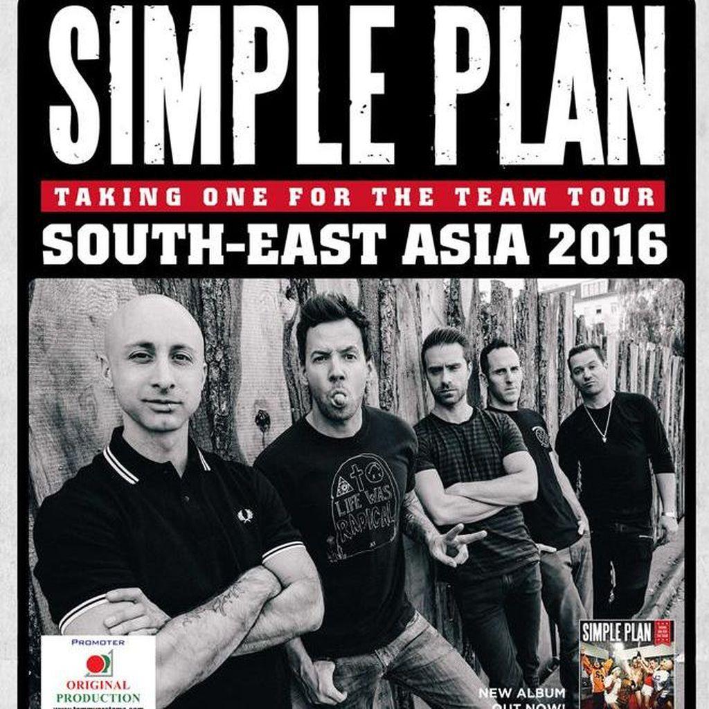 Alasan Promotor Pindahkan Lokasi Konser Simple Plan