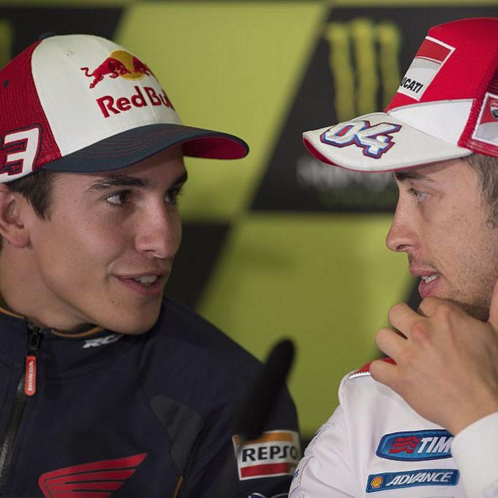Soal Radio Tim, Marquez dan Dovizioso Beda Pandangan dari Rossi