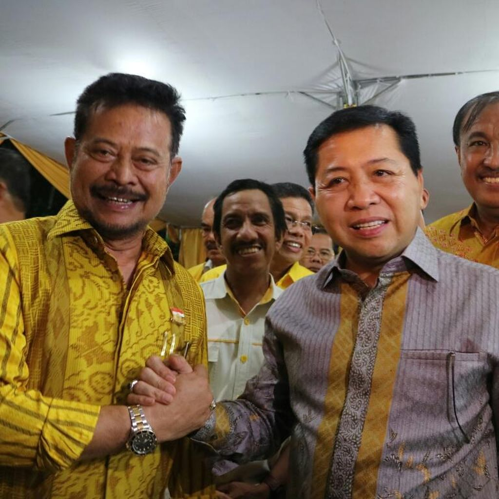 Copot Syahrul Yasin, Nurdin Halid Jadi Plt Ketua DPD Golkar Sulsel