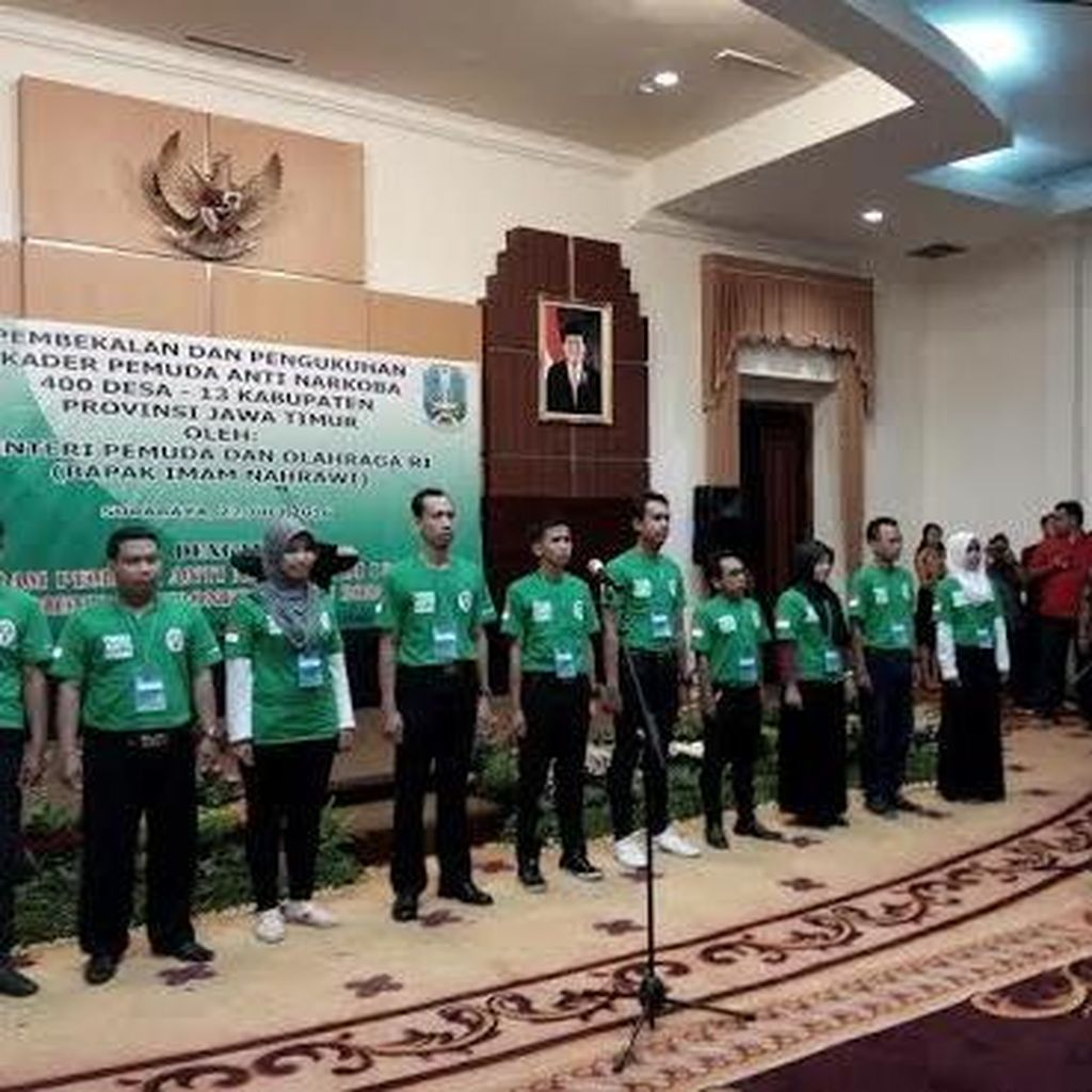 Menpora Kukuhkan Kader Pemuda Anti Narkoba 400 Desa di Jawa Timur
