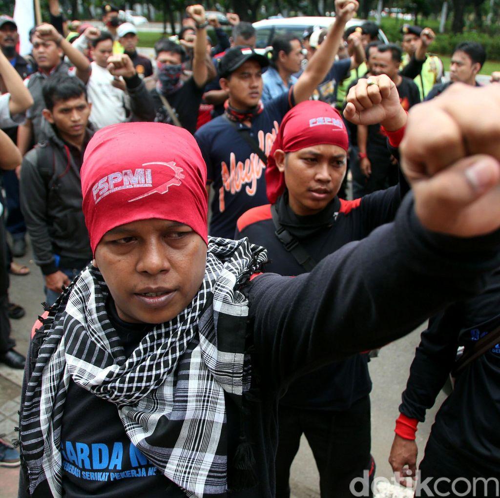 Usai Bertemu Perwakilan KPK, Massa KSPI Bubarkan Diri