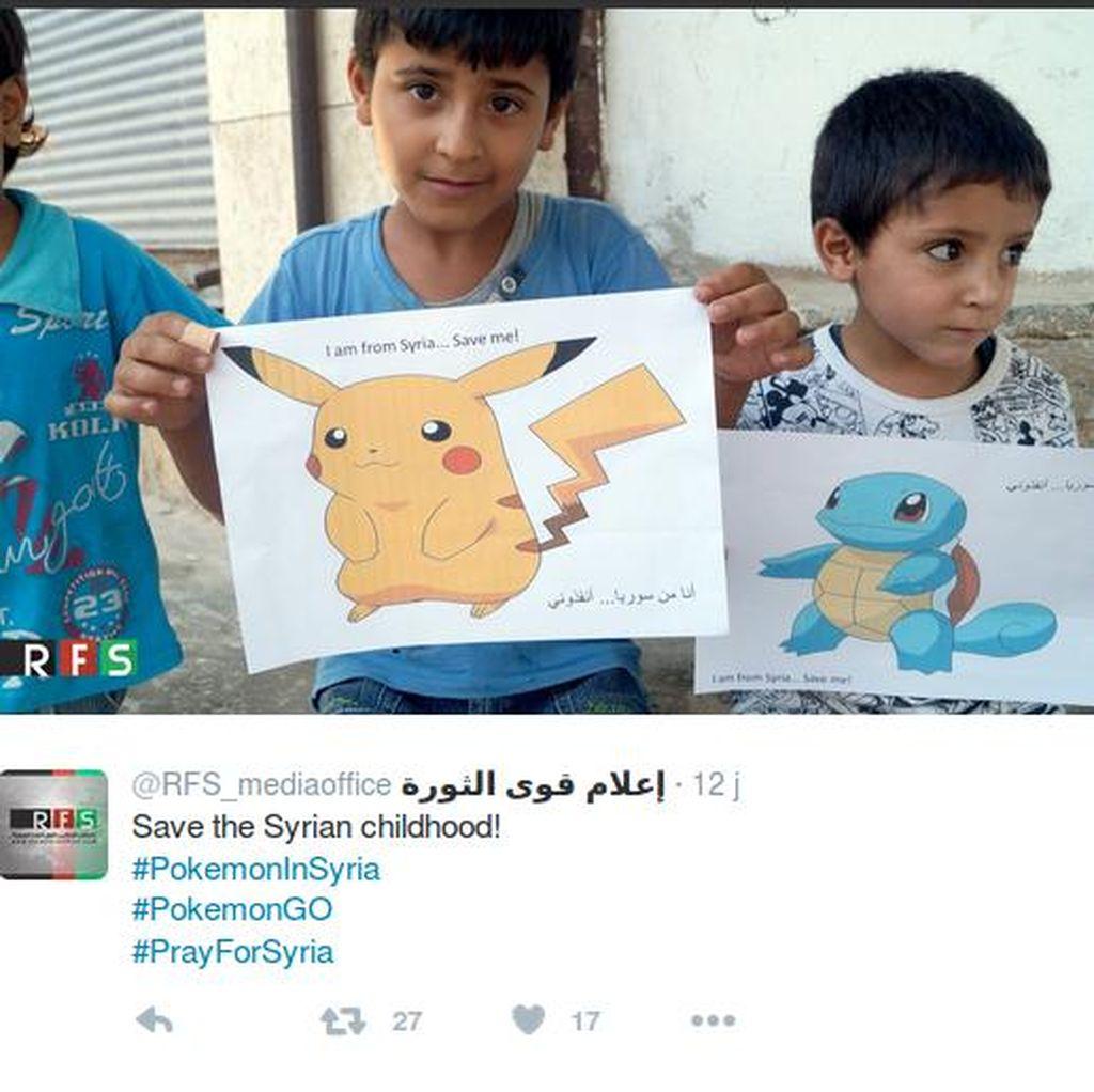 Saat Pokemon Go Jadi Kampanye untuk Selamatkan Anak-anak di Suriah