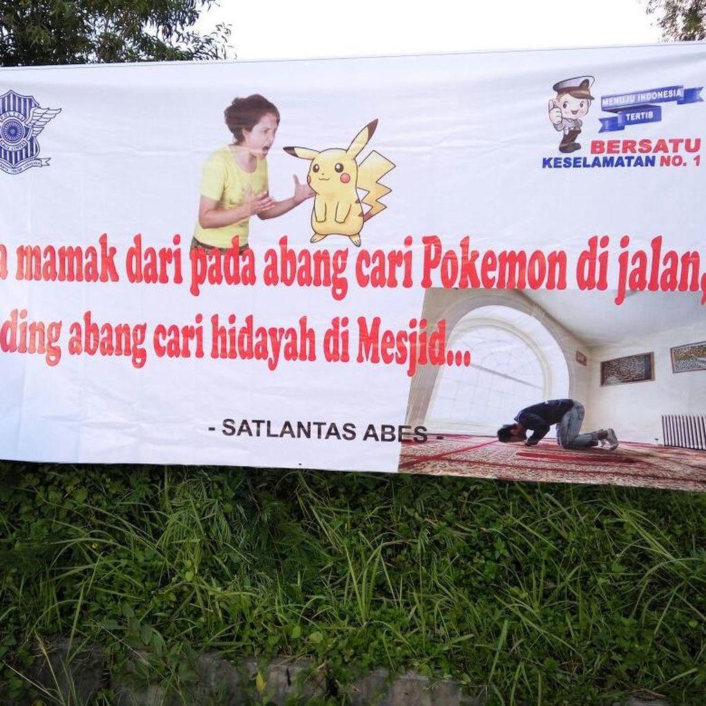 Imbauan Unik Polres Aceh Besar untuk Para Pemburu Pokemon