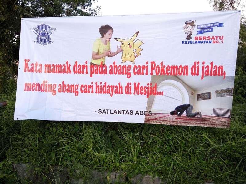 Imbauan Nyeleneh Polres Aceh Besar untuk Para Pemburu Pokemon