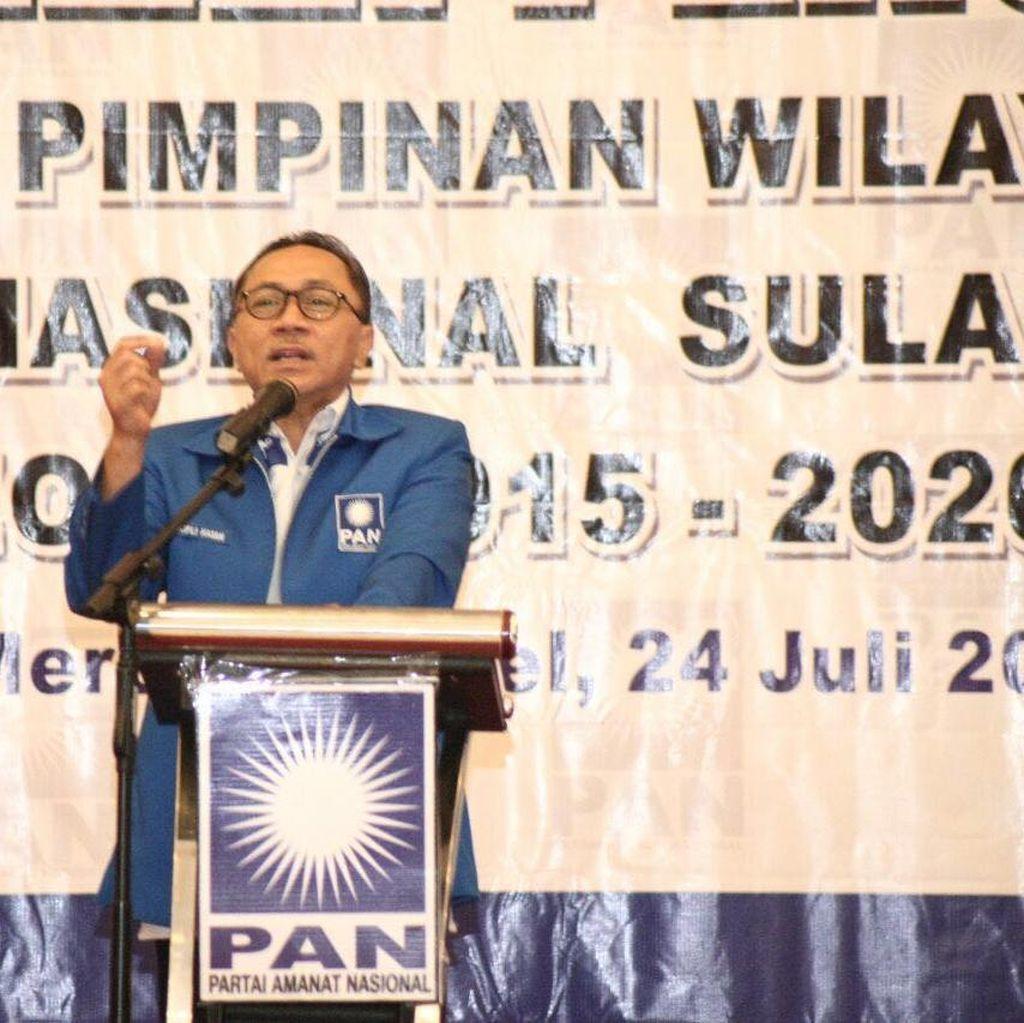 Zulkifli Hasan Lantik Pengurus DPW PAN Sulteng