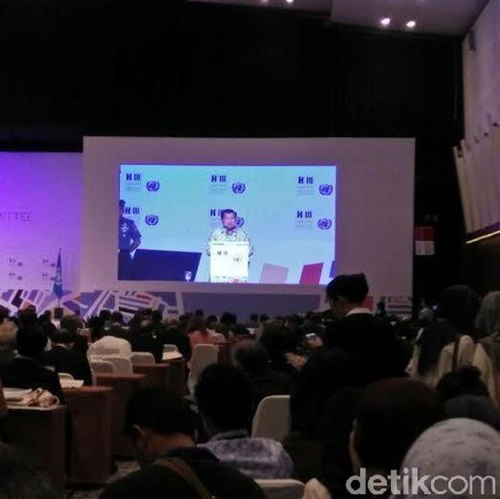 JK Berharap Prepcom3 Hasilkan Keputusan Masalah Pemukiman di Perkotaan