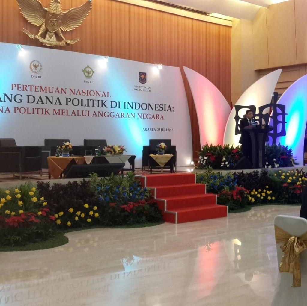 Novanto: Dana Bantuan Parpol dari Negara Sangat Kurang