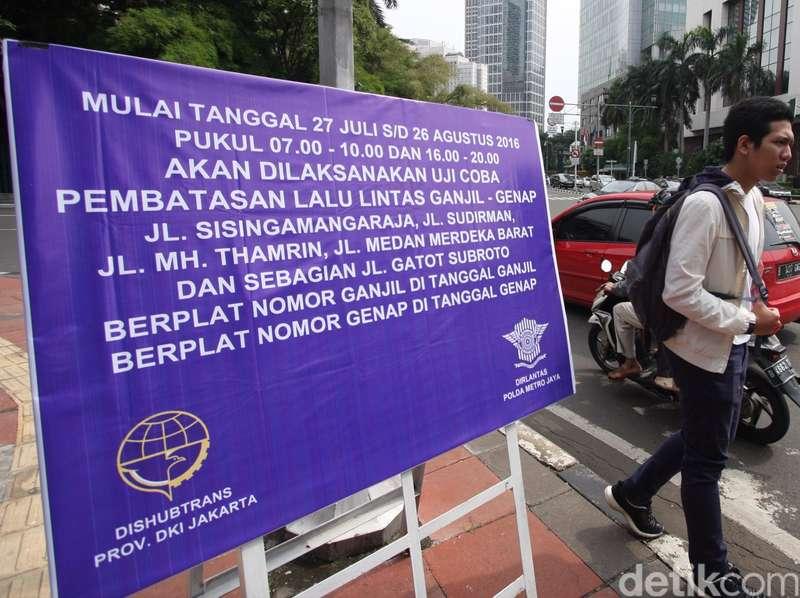Awas Ada yang Akali Nopol Kendaraan Saat Aturan Ganjil Genap Diberlakukan