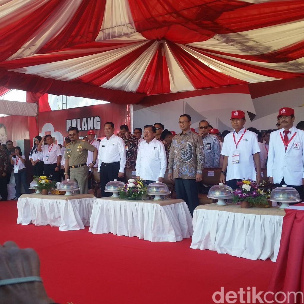 JK Membuka Jumbara PMR Tingkat Nasional di Pangkep, Sulawesi Selatan