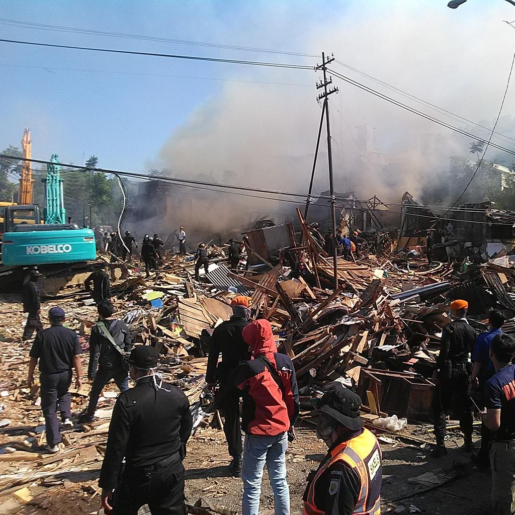 Polisi Dalami Penyebab Kebakaran Rumah di Lahan Milik PT KAI Bandung