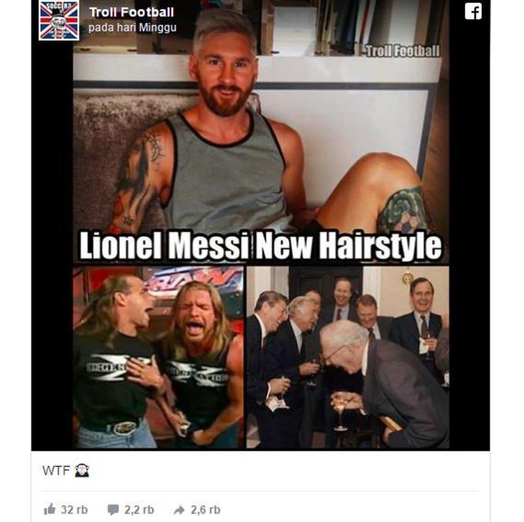 Messi Jadi Pirang, Netizen Menertawakan