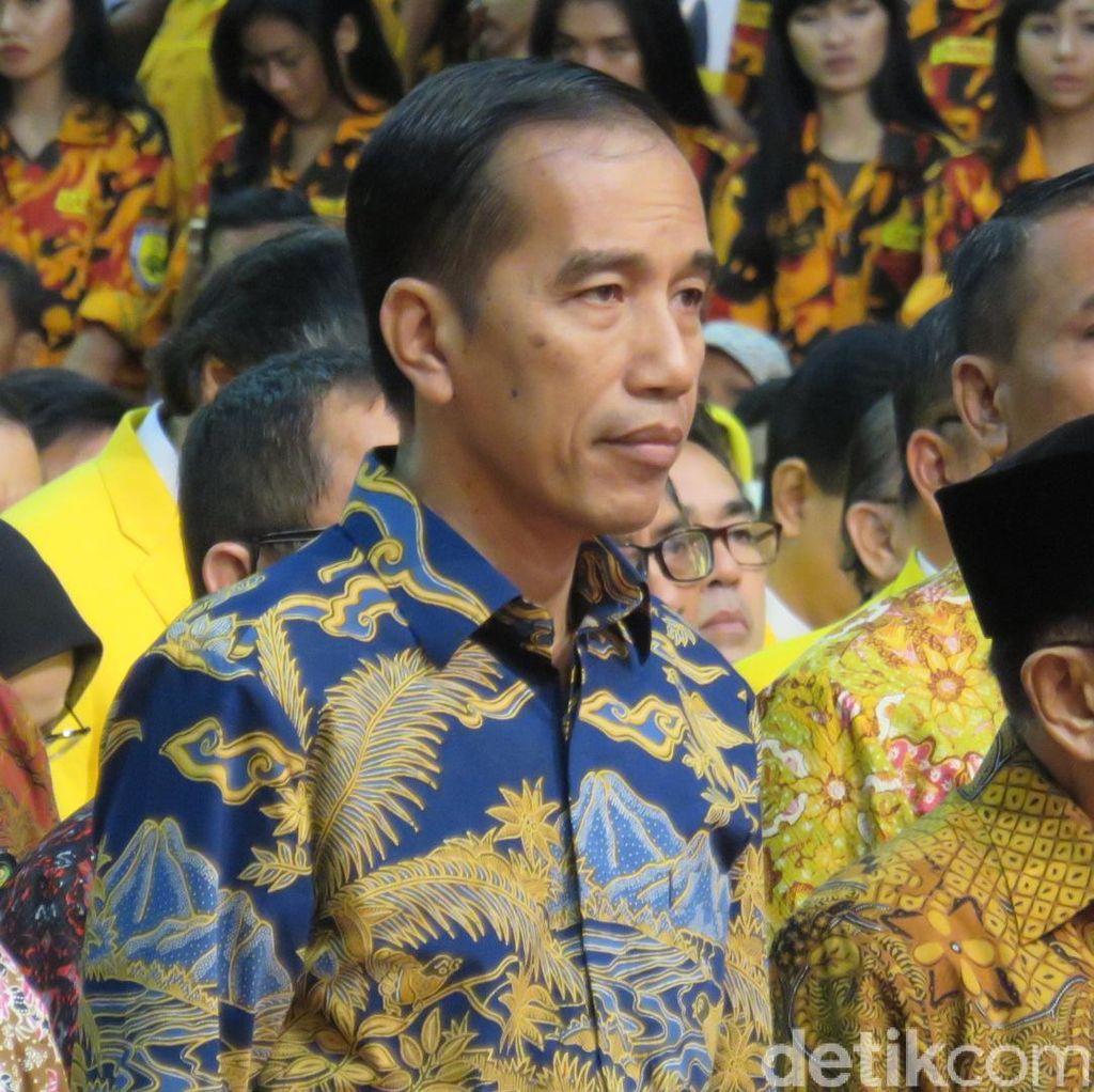 Soal Dukungan Golkar di Pilpres 2019, Ini Respons Jokowi