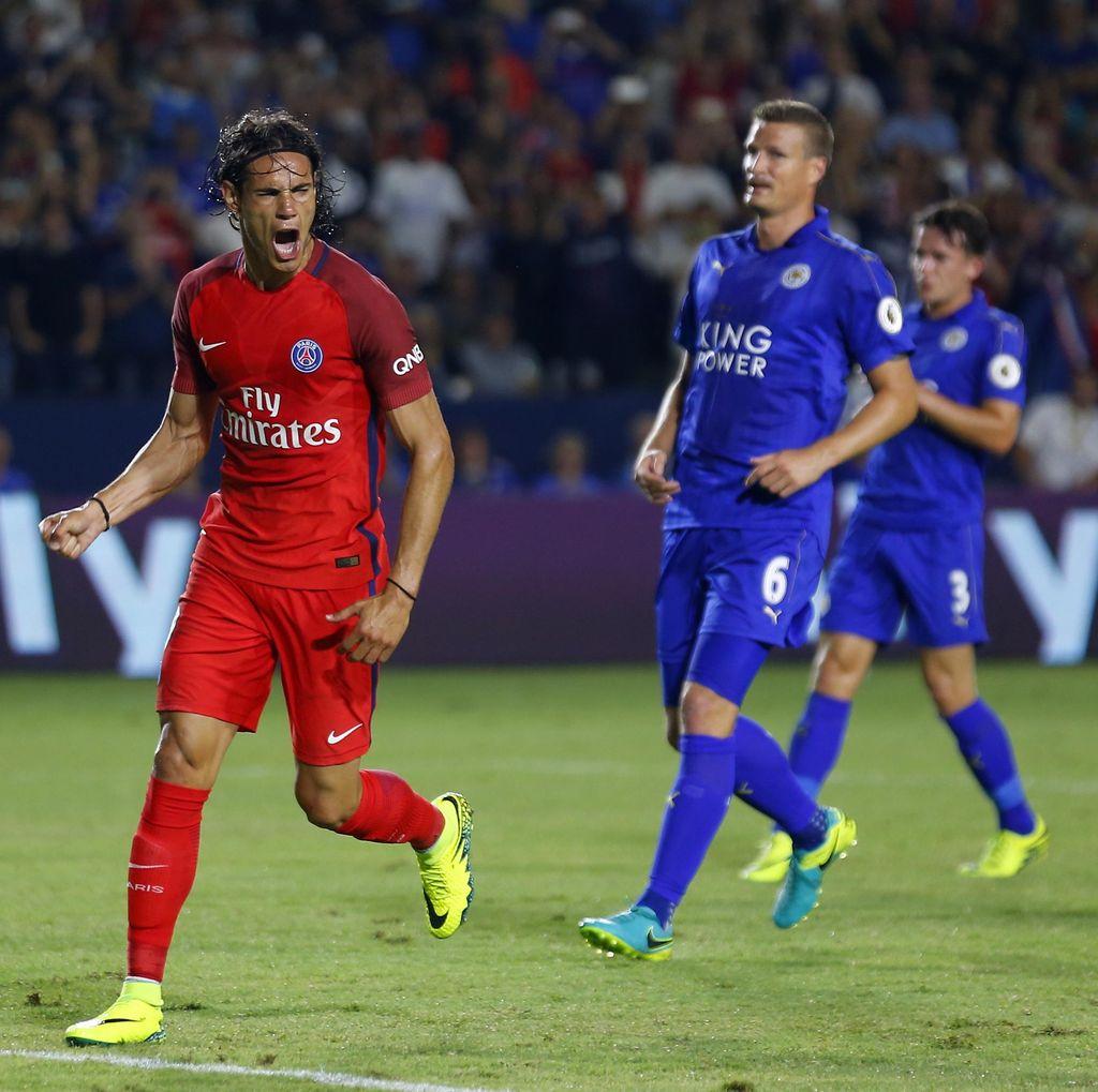PSG Gasak Leicester 4-0