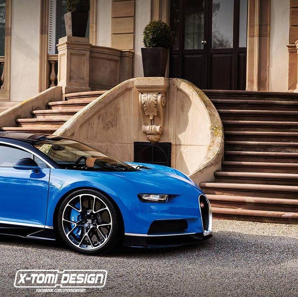 Begini Jadinya Jika Bugatti Chiron Jadi Sedan Empat Pintu