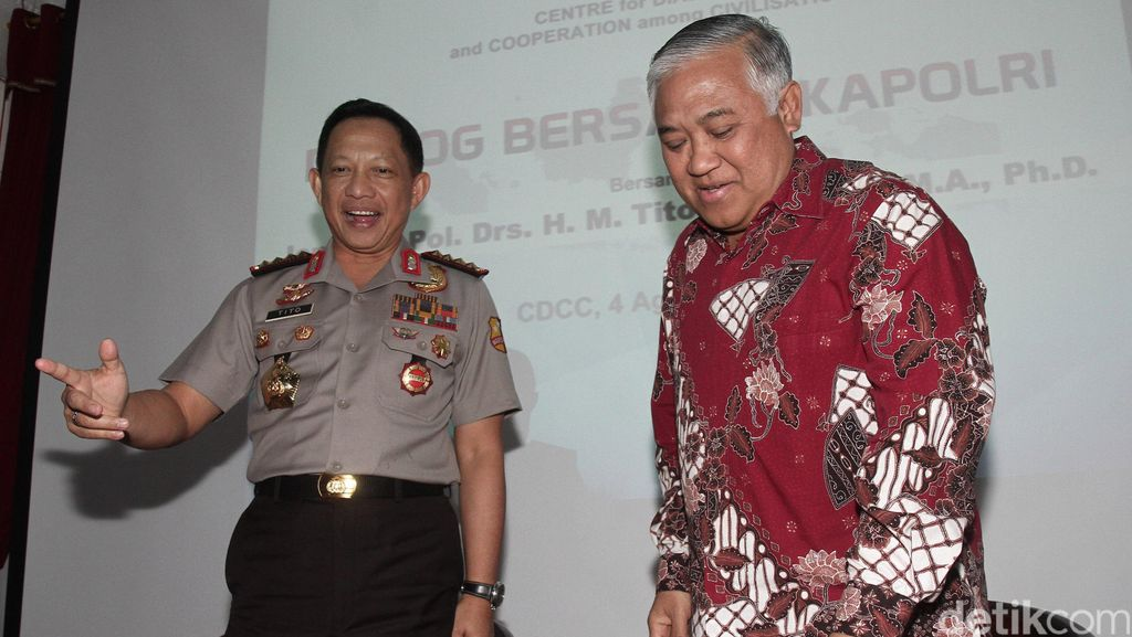 Din Syamsuddin Temui Kapolri Jenderal Tito di Mabes Polri