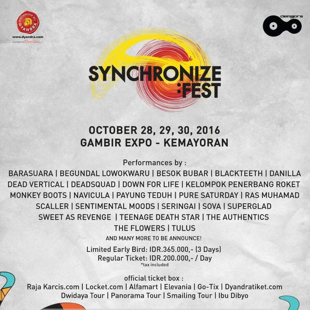100 Musisi Asli Indonesia, Peluru Utama Synchronize Fest
