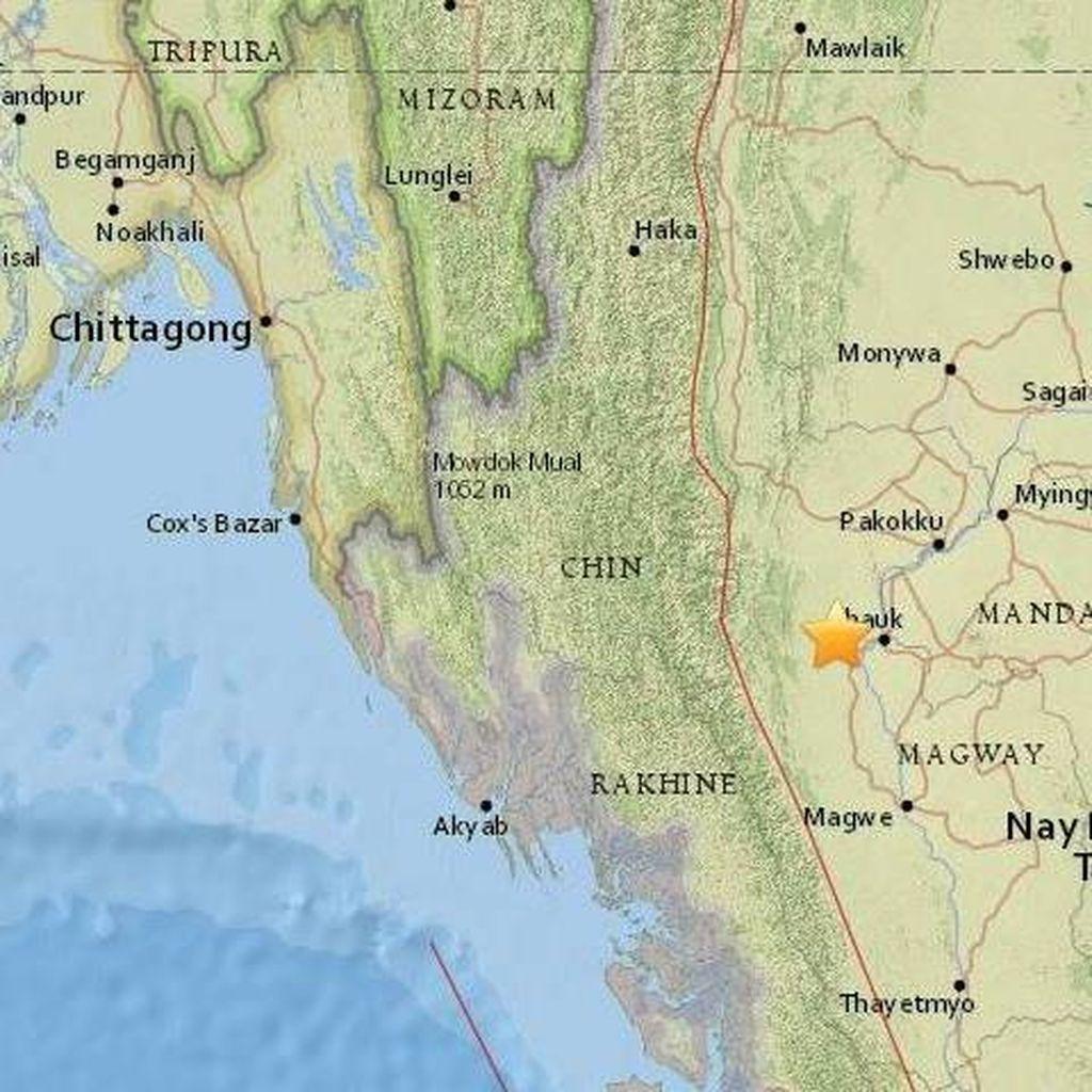 Panik Akibat Gempa 6,8 SR di Myanmar, 20 Orang Luka-luka di Bangladesh