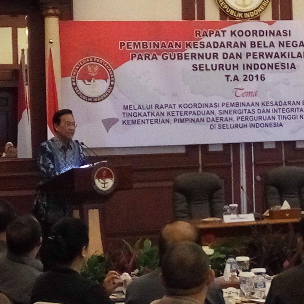 Menhan Gelar Rakor Bela Negara Bersama Rektor dan Gubernur Daerah