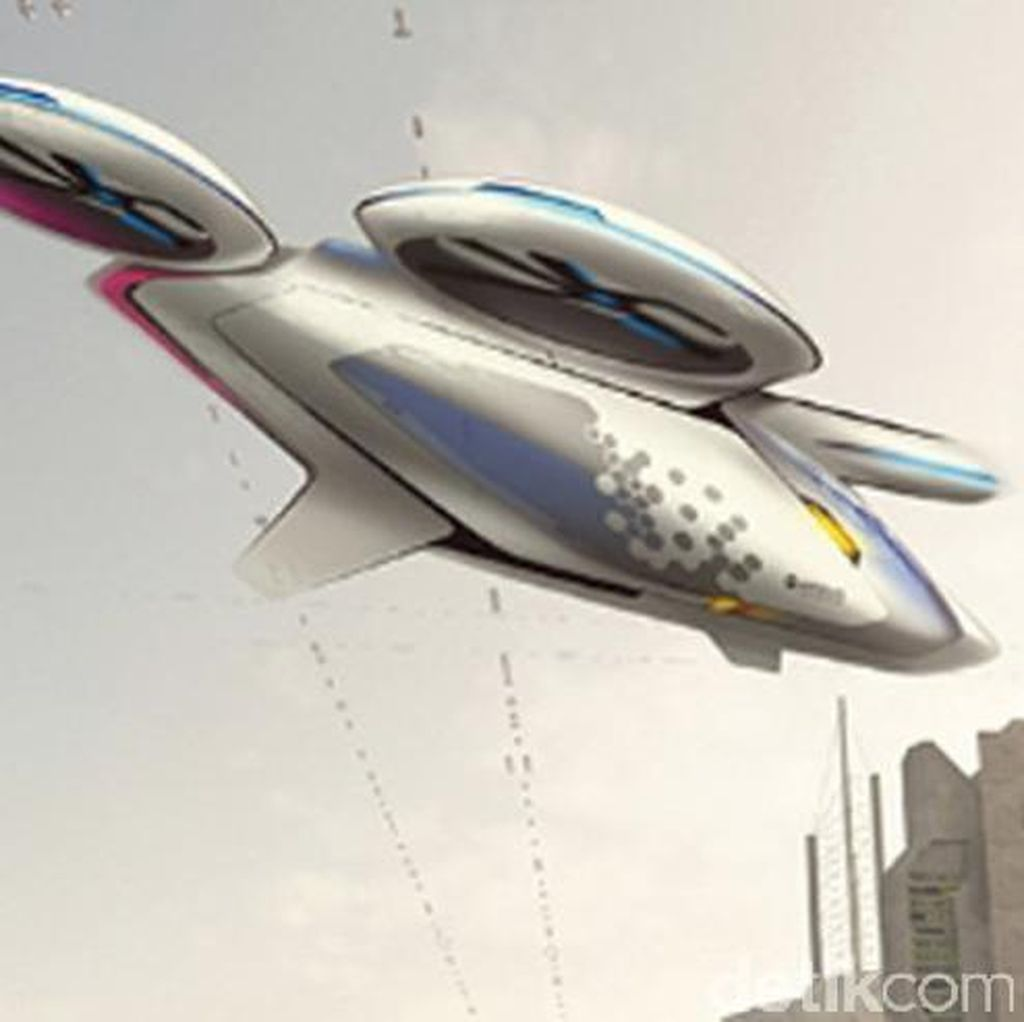 Begini Rekaan Airbus untuk Mobil Terbang