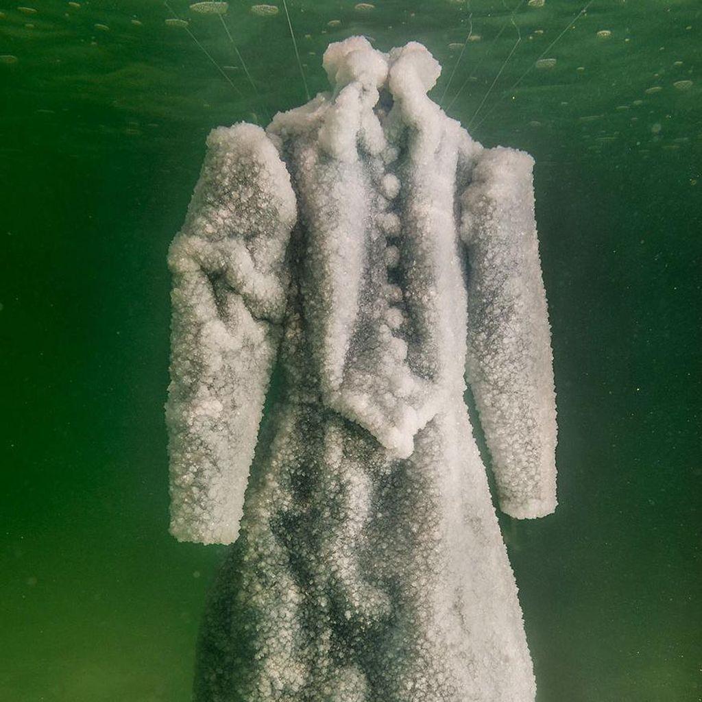 Lihat Bagaimana Gaun Kristal Dramatis Ini Dibuat Lewat Proses Alam