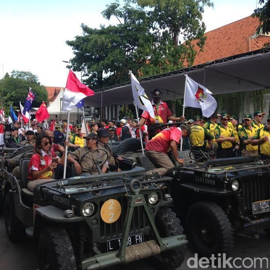 Konvoi 24 Jeep Tandai Pembukaan Lomba Menembak Internasional, ini Rutenya