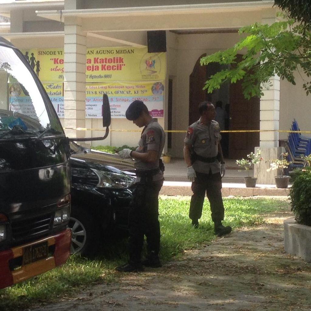 Polisi Masih Berjaga di Lokasi Gereja Katolik Santo Yosep Medan