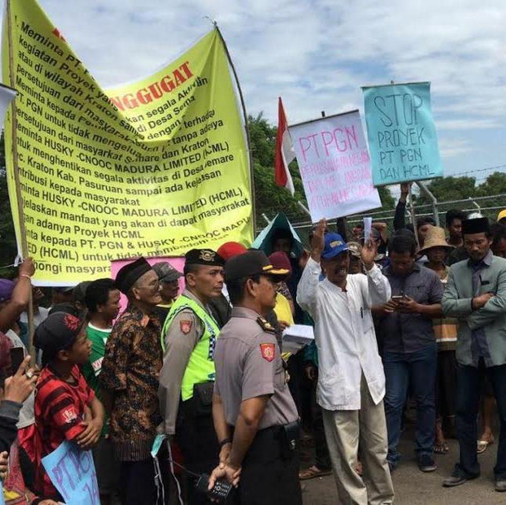 Warga Tuntut Kompensasi Rp 12 Juta Per KK di Stasiun Gas Pasuruan