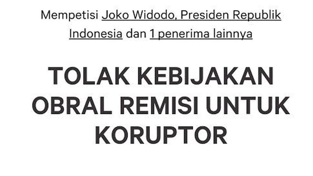 Petisi 'TOLAK KEBIJAKAN OBRAL REMISI UNTUK KORUPTOR' Bergulir: Ditujukan ke Jokowi