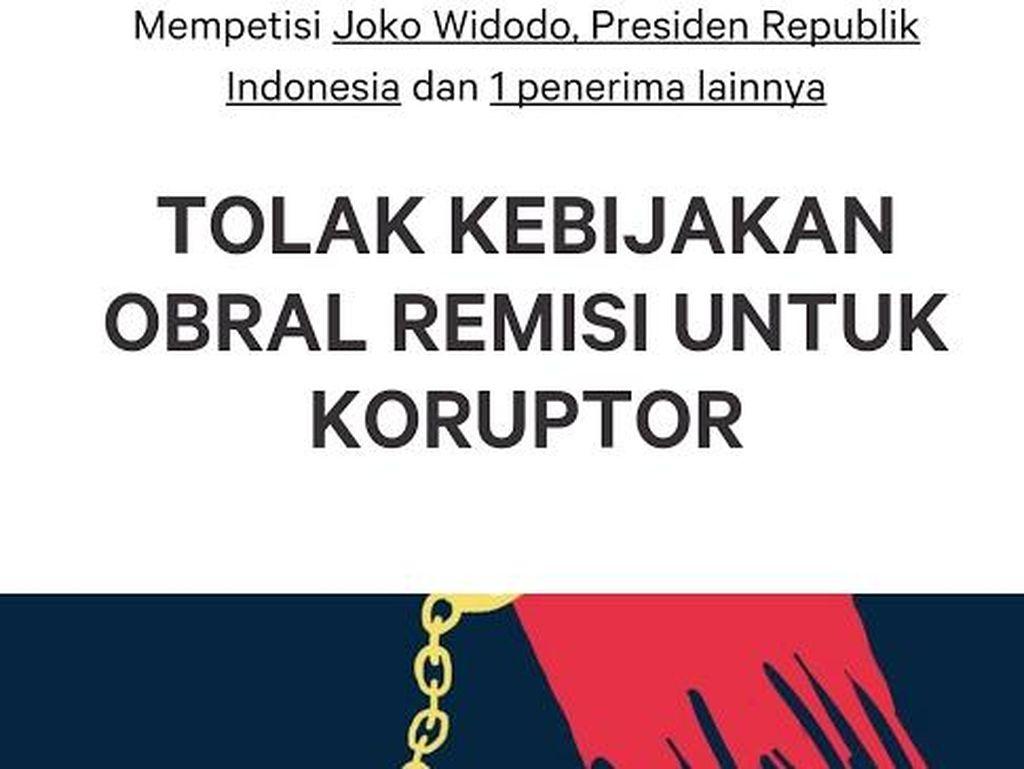 Petisi TOLAK KEBIJAKAN OBRAL REMISI UNTUK KORUPTOR Bergulir: Ditujukan ke Jokowi