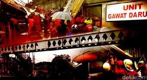 JPO Pasar Minggu Ambruk