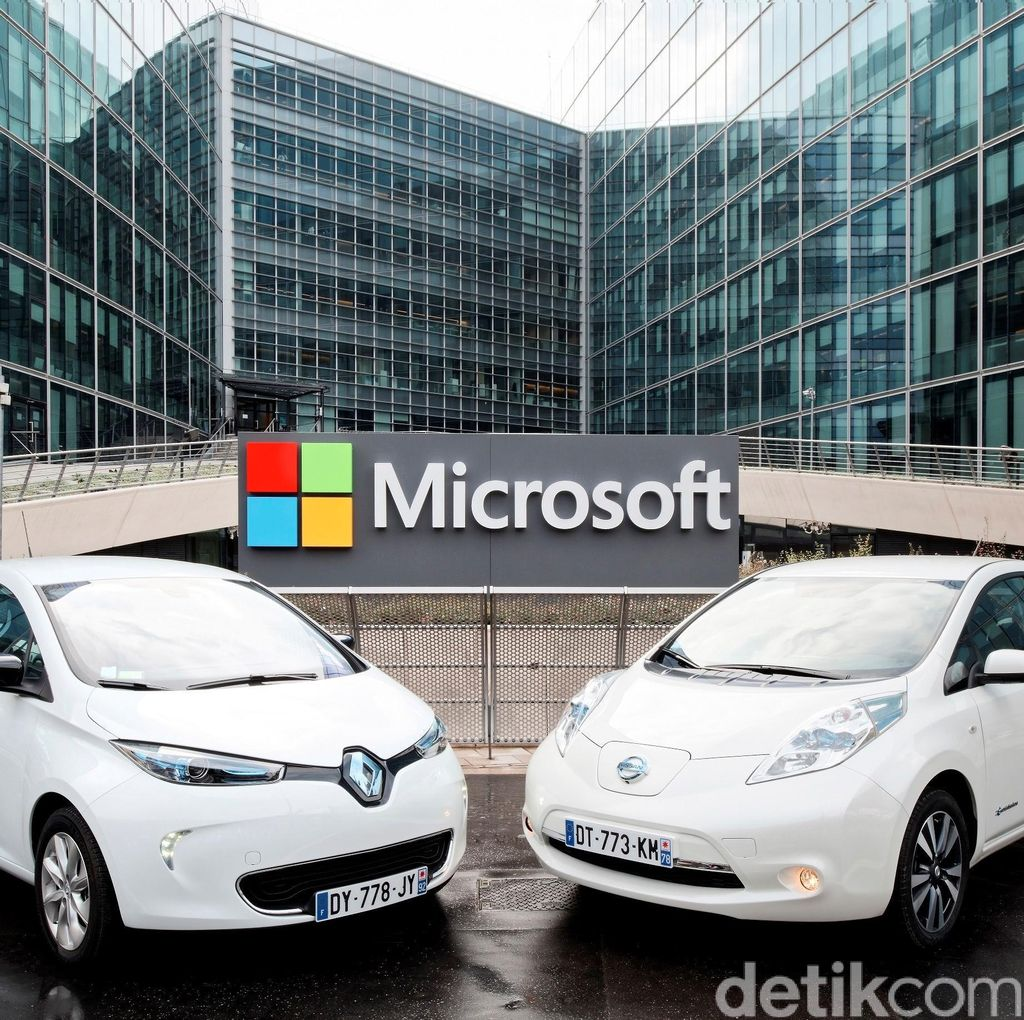Kembangkan Teknologi Mobil Terhubung, Renault-Nissan Gandeng Microsoft