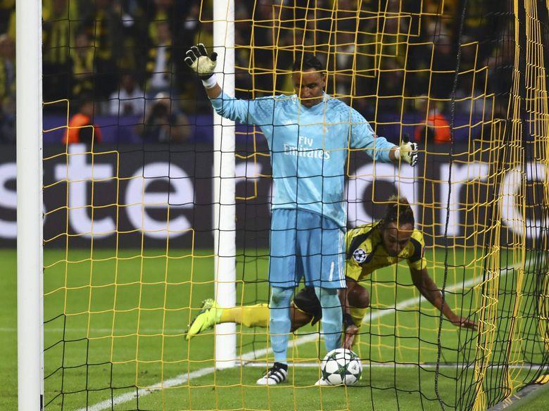 Zidane Tetap Memuji Navas Walau Harus Bermain Seri Lawan Dortmund