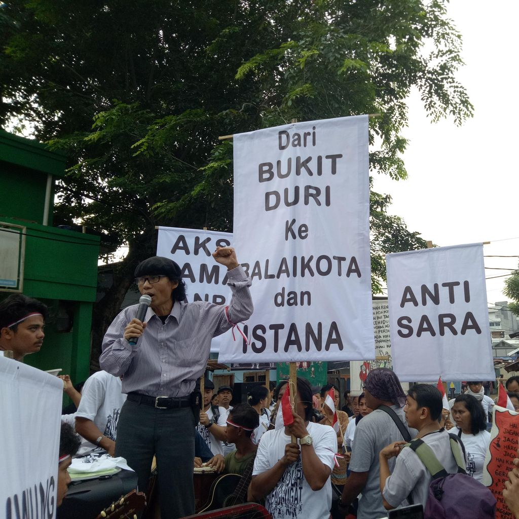 Penggusuran Bukit Duri Dilakukan, Warga Gelar Orasi Kebudayaan