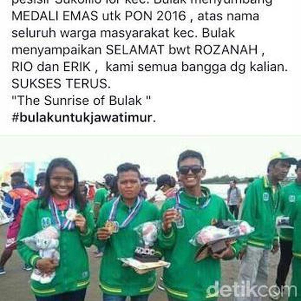 Dua Anak Nelayan Kecamatan Bulak Sumbang Medali Emas PON XIX