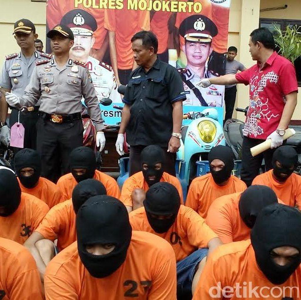 29 Pelaku Kejahatan di Mojokerto Diringkus Dalam Dua Minggu