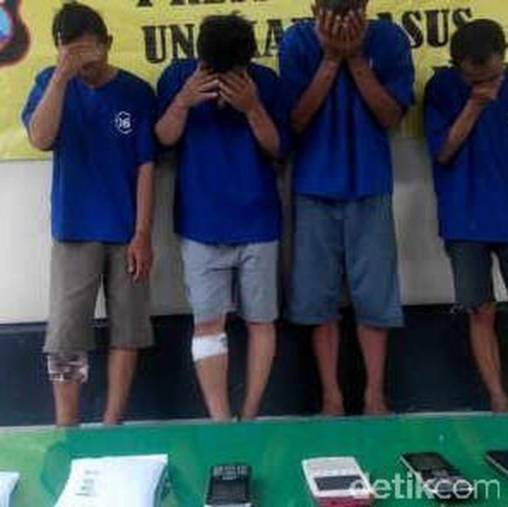Spesialis Pecah Kaca Ditangkap, Tiga Pelaku Ditembak Kakinya