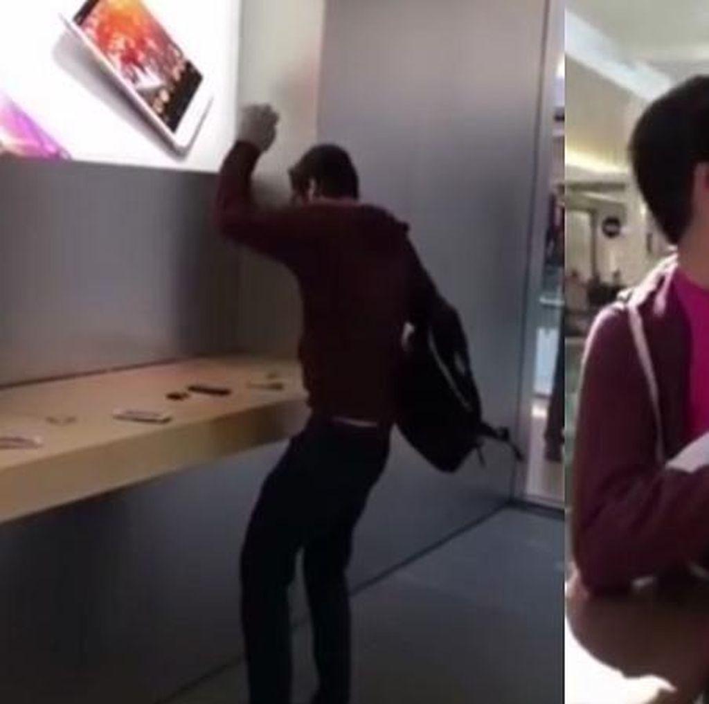 Ngamuk di Apple Store, Pria Ini Rusak iPhone & Mac