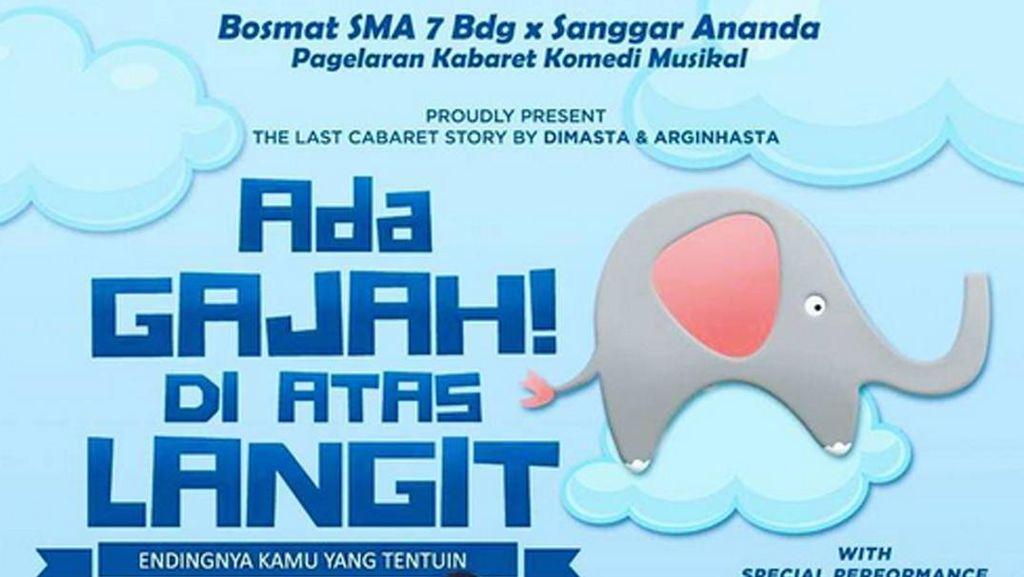 Pagelaran Kabaret Ada Gajah di Atas Langit Digelar di Bandung