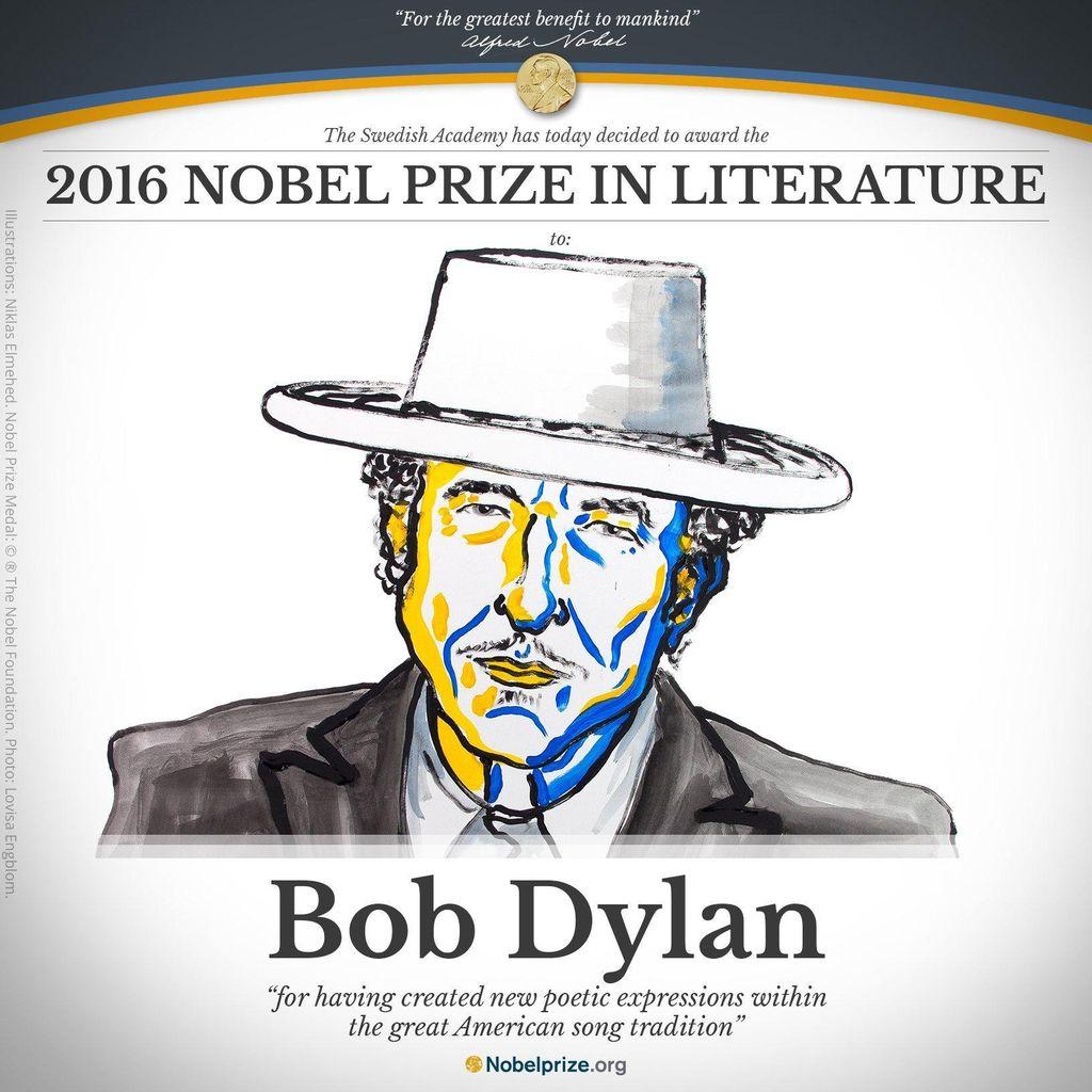 Bob Dylan Raih Nobel Sastra 2016