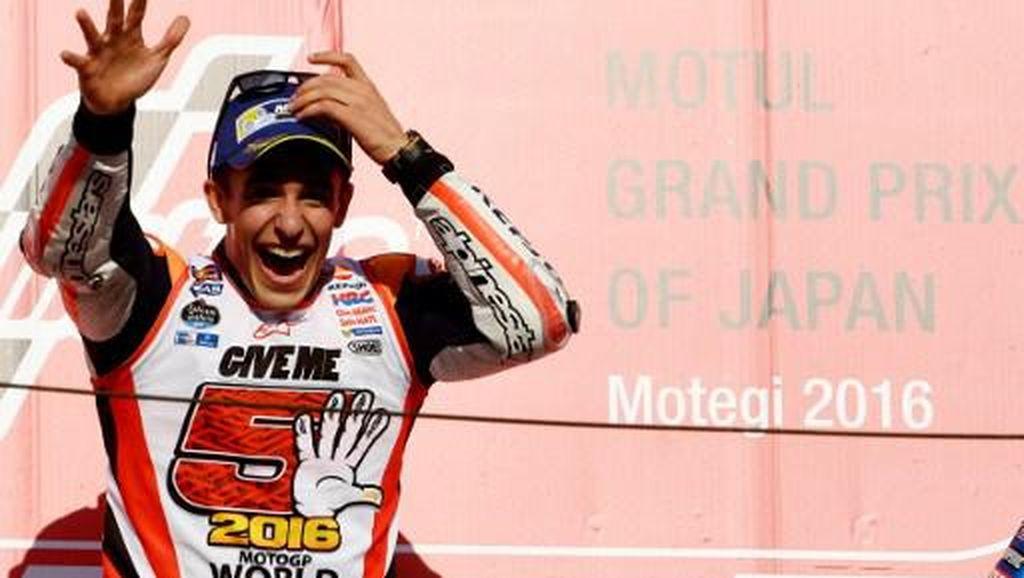 Siap Tarung Sampai Valencia, Marquez Tak Menyangka Jadi Juara di Jepang