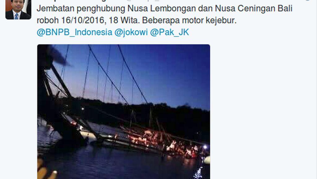 BNPB Ralat Informasi, Korban Tewas Jembatan Kuning Bali Ambruk 8 Orang